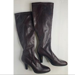 Franco Sarto Pull On Stretch Knee High Boots